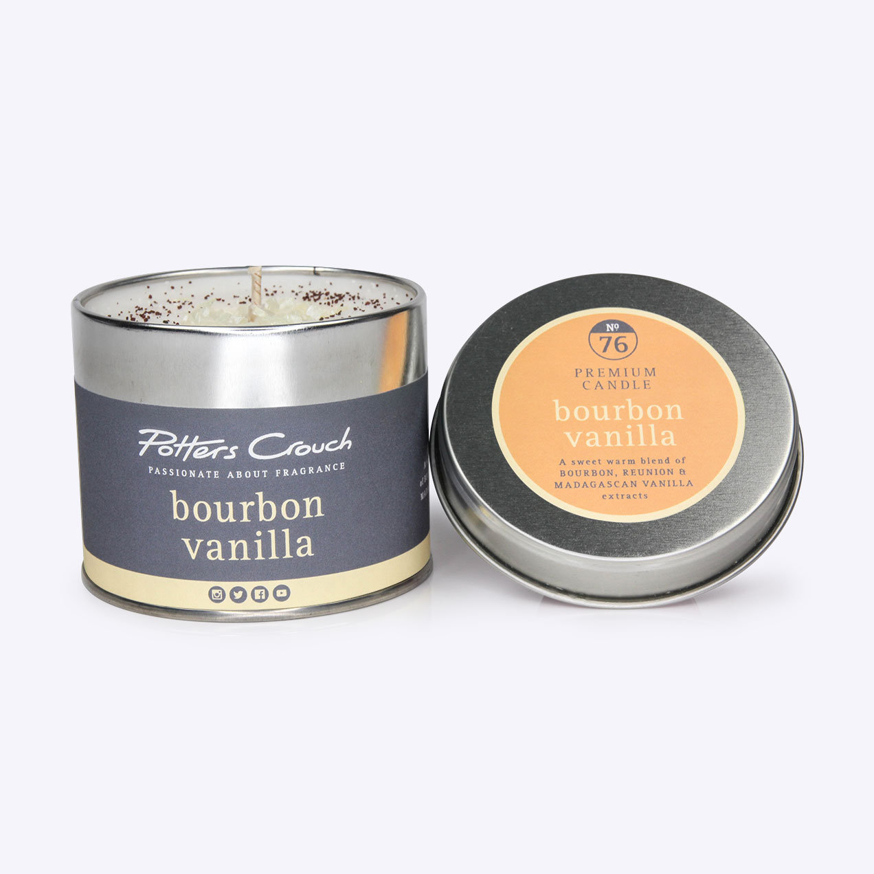 Bourbon Vanilla Scented Candle In A Tin